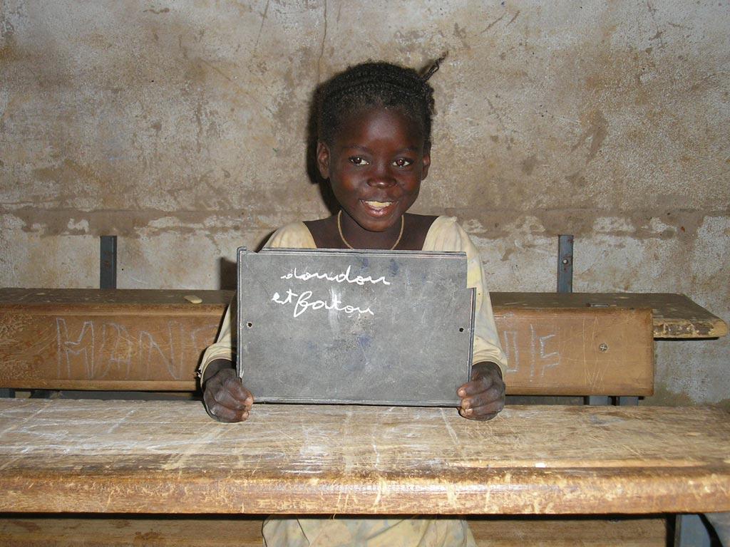 Elève de l'école de Guiè au Burkina Faso