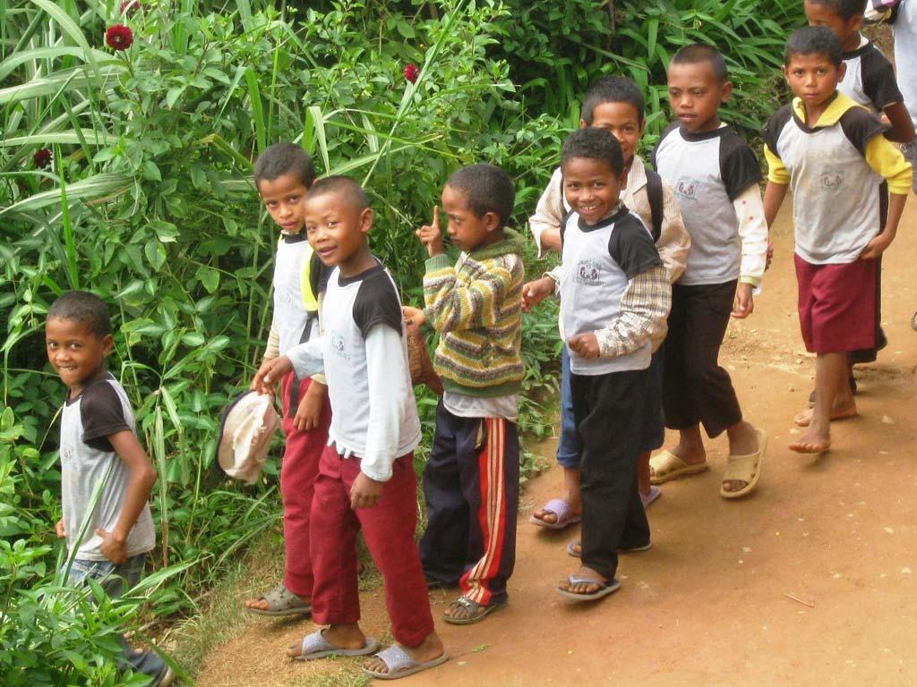 Enfants de l'école Akany Aina à Madagascar