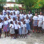 Orphelines hébergées à l'orphelinat des Filles de Marie de Majunga à Madagascar