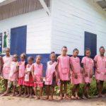 Orphelines de l'orphelinat FDM d'Amboangibé à Madagascar