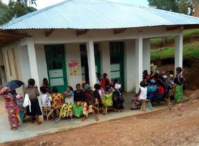 Aile d'hospitalisation du centre hospitalier de Vutule au Nord Kivu en RDC
