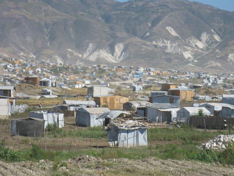Le bidonville de Canaan en Haïti