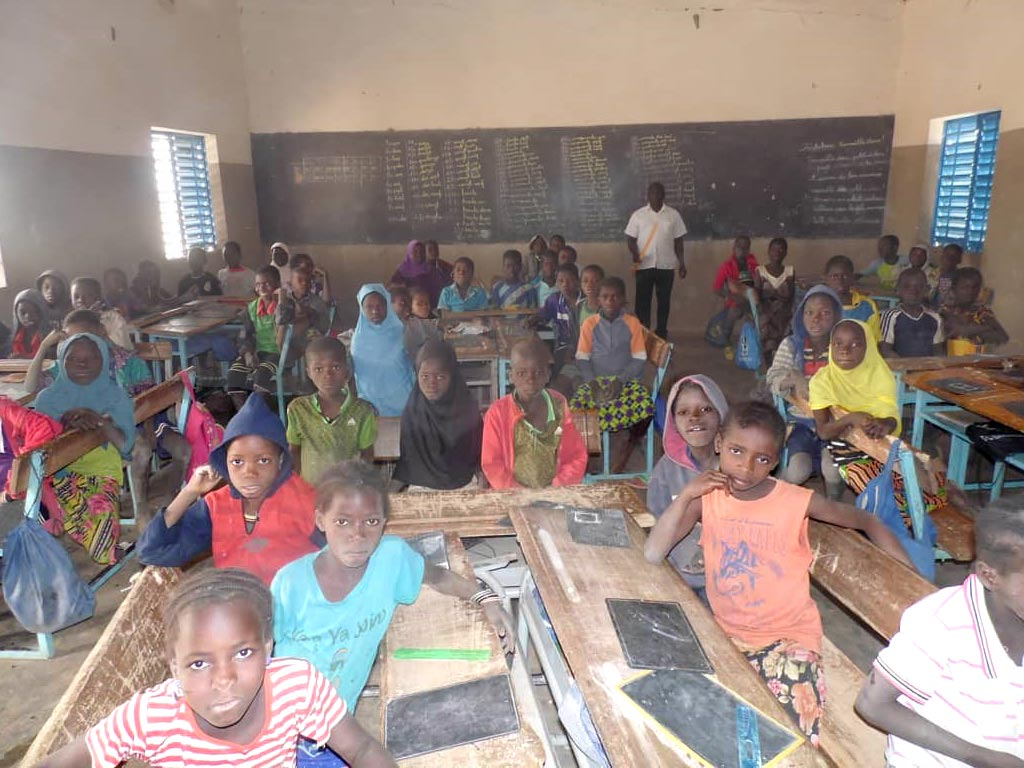 Classe de CP de l'école de Souka au Burkina Faso