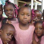 Enfants de l'école de Cité Soleil en Haïti