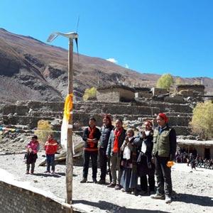 Eolienne dans le Haut Dolpo au Népal