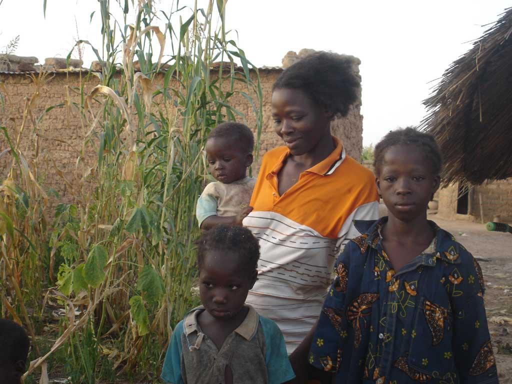 Famille de Guiè au Burkina Faso