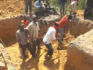 Creusement de la fosse septique