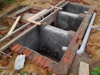 Pavement de la fosse septique