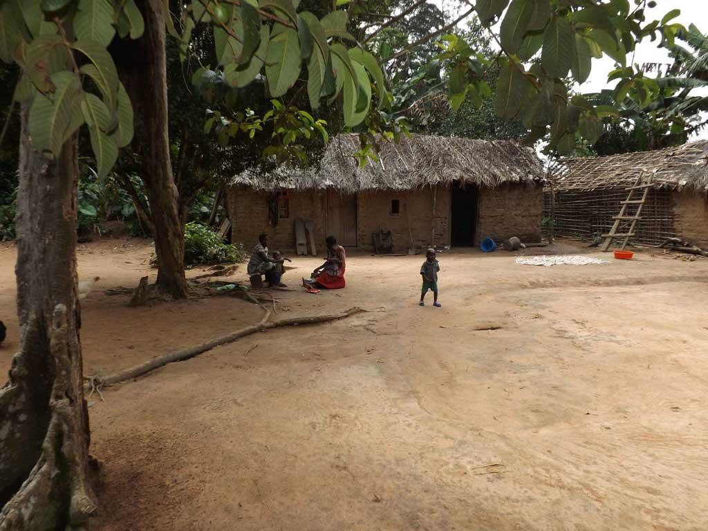 Habitations de Kabweke en RD Congo