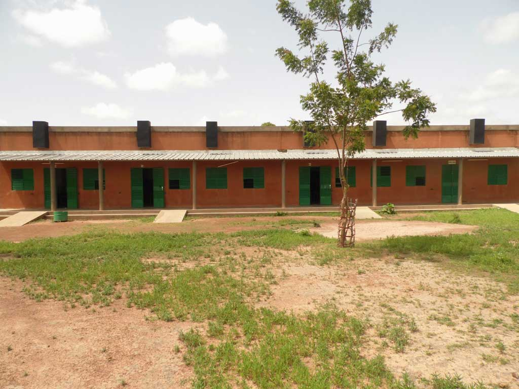 Bloc pédagogique du Lycée de Guiè au Burkina Faso
