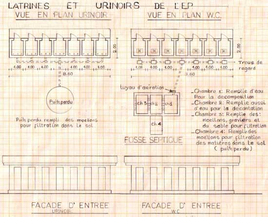 Latrines de l'école de Kabweke en RD du Congo
