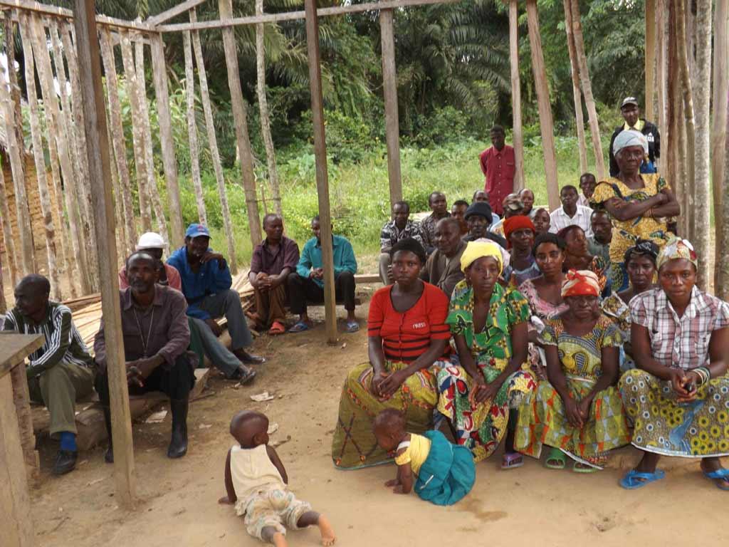Population déplacée à Kabweke au Nord Kivu, RD du Congo