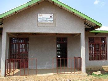 Bibliothèque du groups scolaire Vutegha à Kirumba, RD du Congo