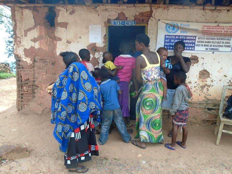 Bureau d'état civil de Lubero au Nord Kivu, RD du Congo