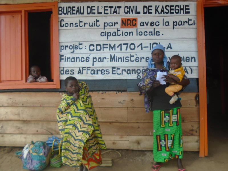 Bureau d'état civil de Kaseghe au Nord Kivu, RD du Congo