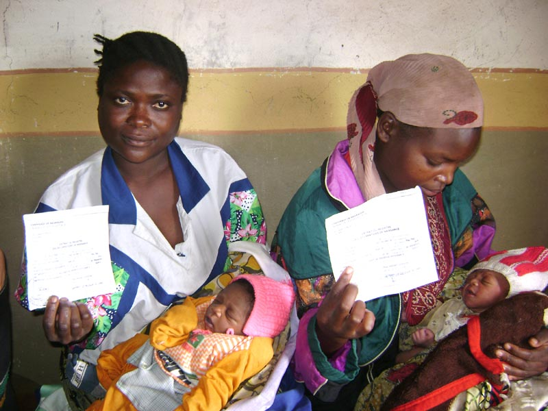 Déclaration des naissances à la maternité de Lubero au Nord Kivu, RD du Congo
