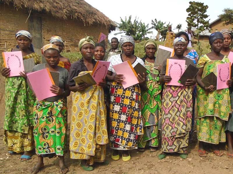 Groupe d'alphabétisation des femmes au Nord Kivu en RD du Congo