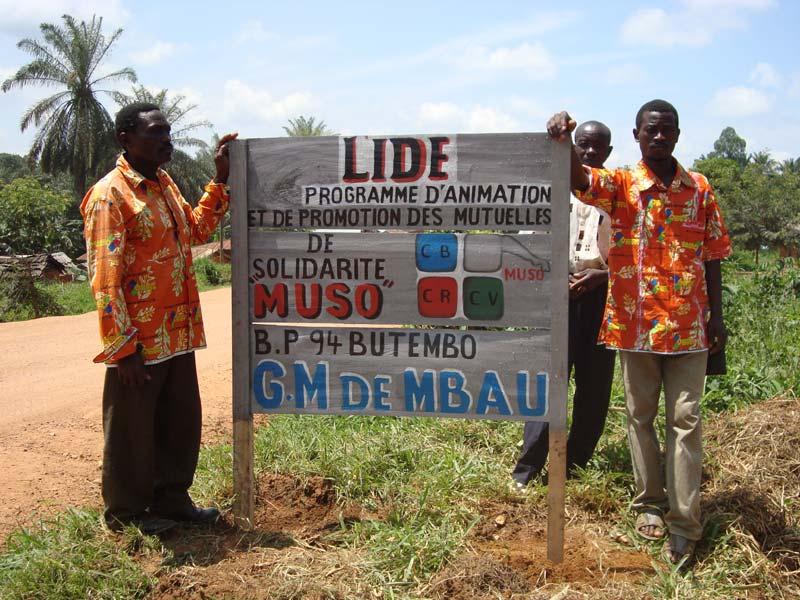 Panneau Mutuelles de Solidarités de la Lide en RD du Congo