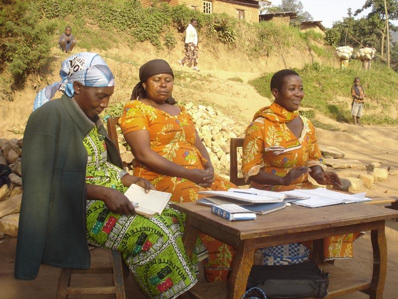 Réunion des membres d'un Mutuelle de Solidarité au Nord Kivu, RD du Congo