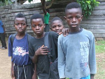 Enfants réfugiés de Goma en RD du Congo
