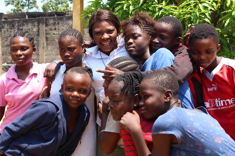 Filles des rues de Kinshasa hébergées au centre Ndako Ya Biso