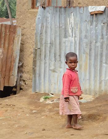Enfant très vulnérable de la zone de Basa prise en charge par le Point d'Ecoute de Gisenyi au Rwanda.