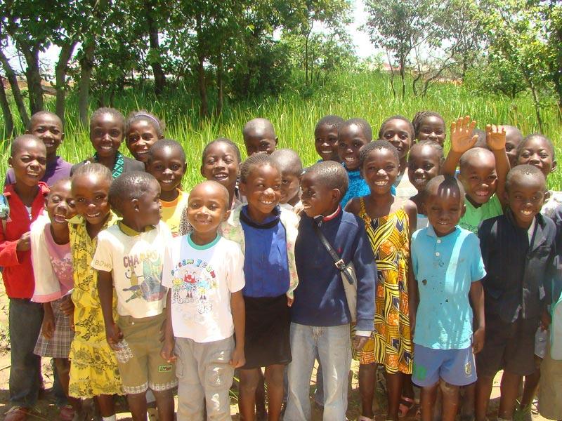Orphelins hébergés au Village d'Enfants Bumi de Karavia à Lubumbashi, RD du Congo