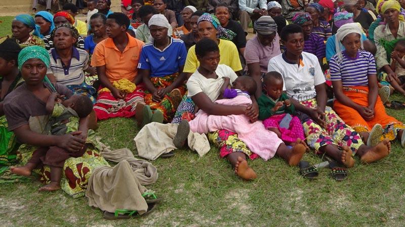 Femmes seules avec enfants soutenues par le Point d'Ecoute au Rwanda