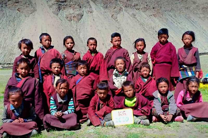 La classe Kindergarden de l'école de Ting Kyu
