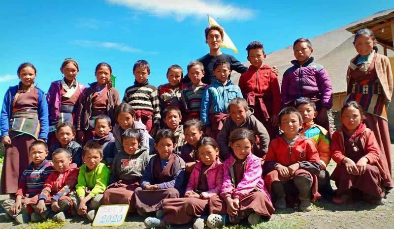 La classe 1 de l'école de Ting Kyu