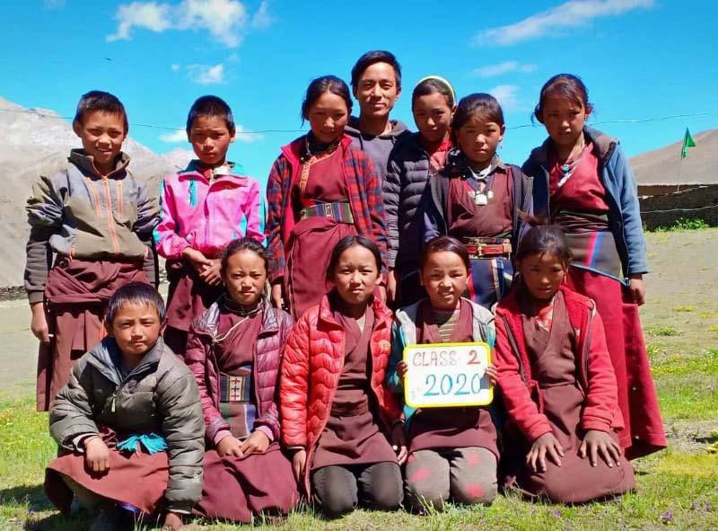 La classe 2 de l'école de Ting Kyu