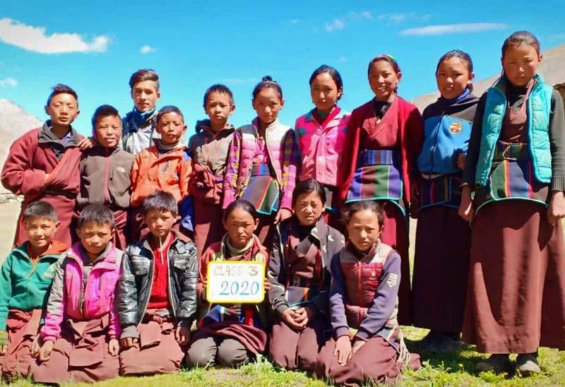 La classe 3 de l'école de Ting Kyu