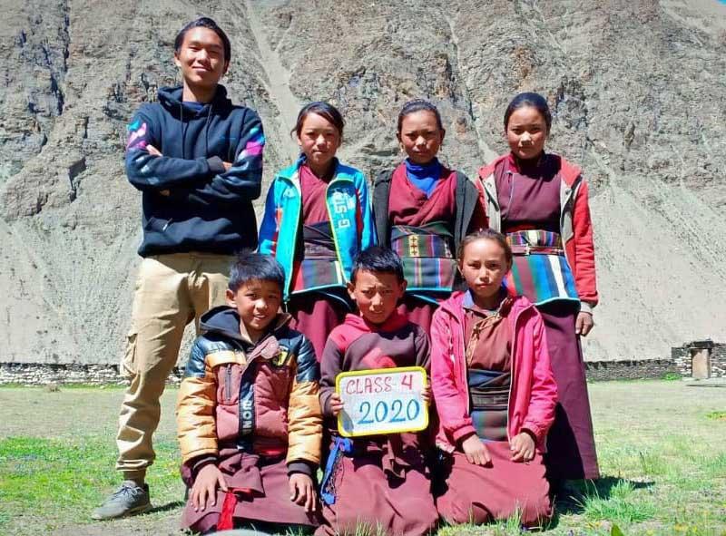 La classe 4 de l'école de Ting Kyu