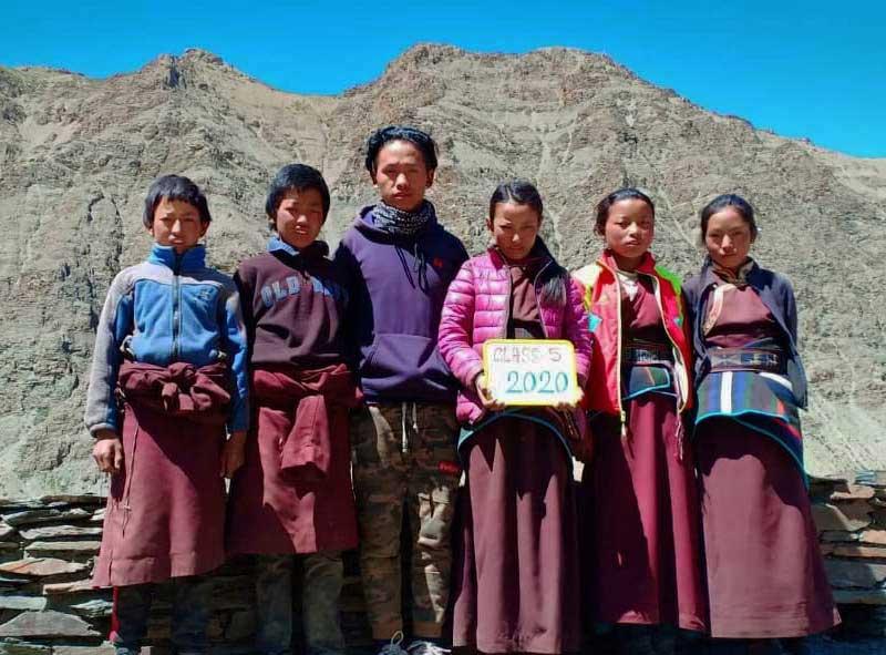 La classe 5 de l'école de Ting Kyu