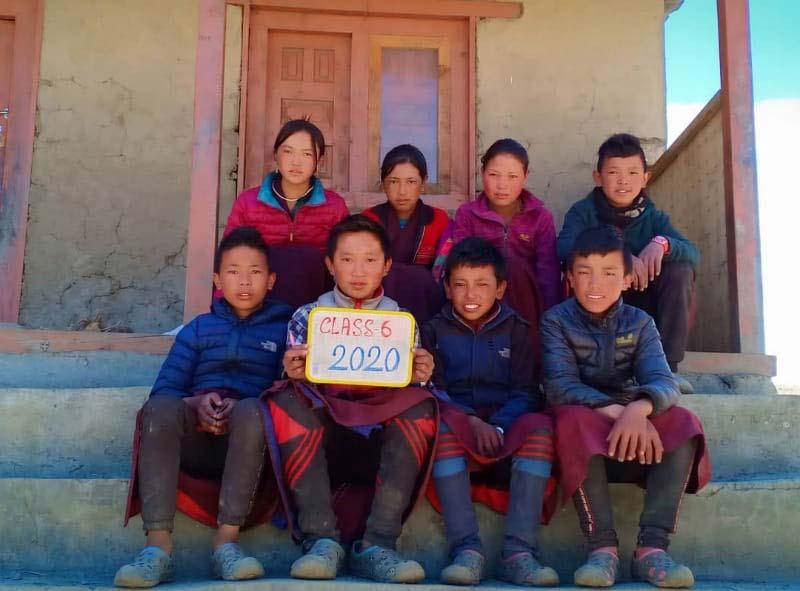 La classe 6 de l'école de Ting Kyu