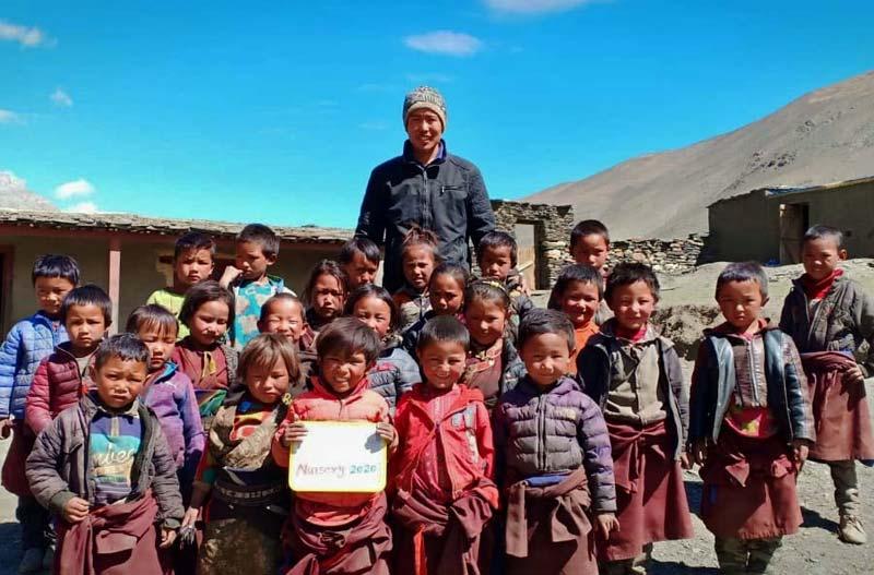 La classe Nursery de l'école de Ting Kyu