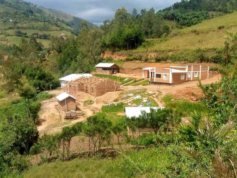 Chantier de construction de la maternité du Centre Hospitalier de Mudusa, RD du Congo