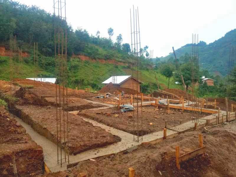 Fondations de la maternité du Centre Hospitalier de Mudusa au Sud Kivu, RD du Congo