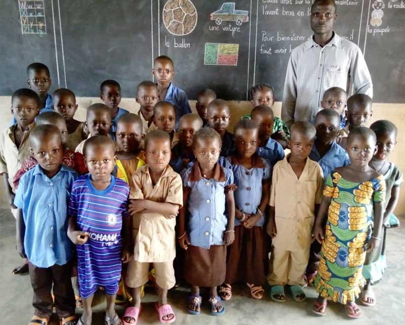 La Classe d'Initiation de l'école Ste Marie de Ouénou au Bénin