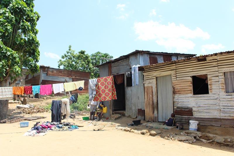 Lieu d'habitation de la famille d'un enfant des rues à Kinshasa