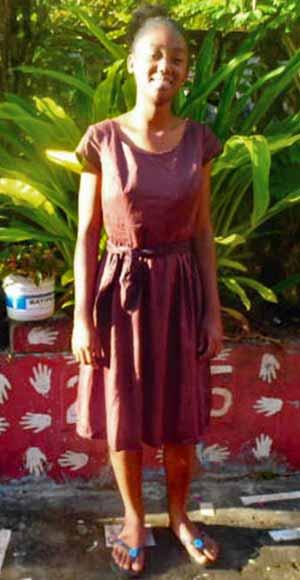 Erica, orpheline de Madagascar lauréate du BEPC en 2020
