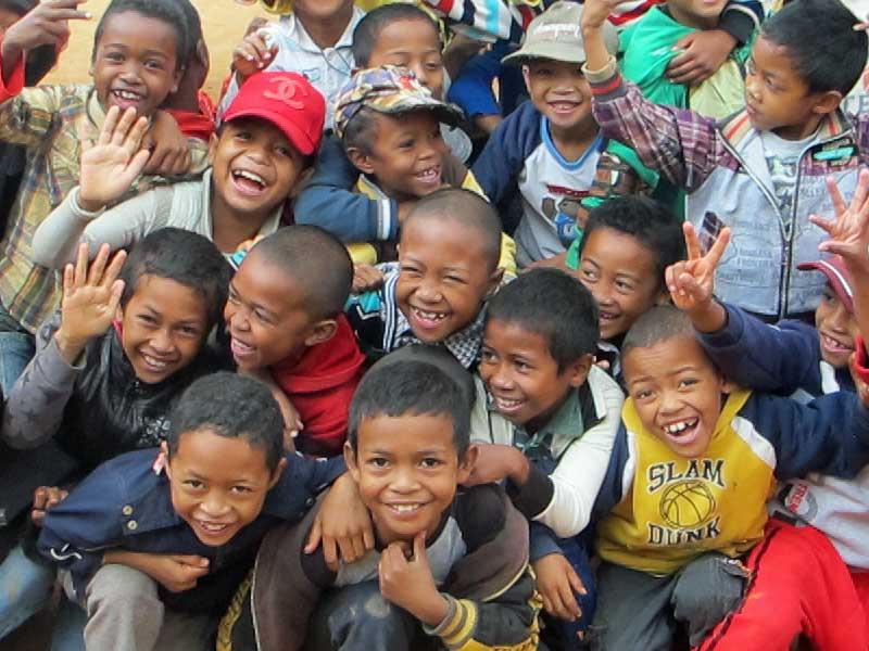 Remerciements des enfants de Madagascar