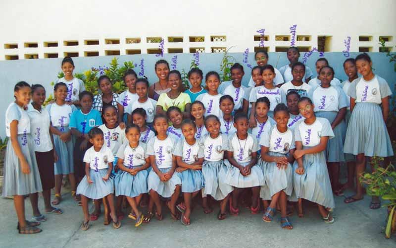 Les pensionnaires de l'orphelinat de Majunga à Madagascar