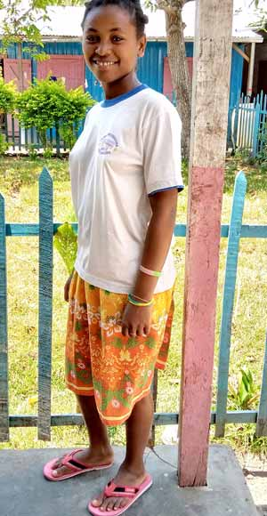 Saïda, orpheline de Madagascar lauréate du BEPC en 2020