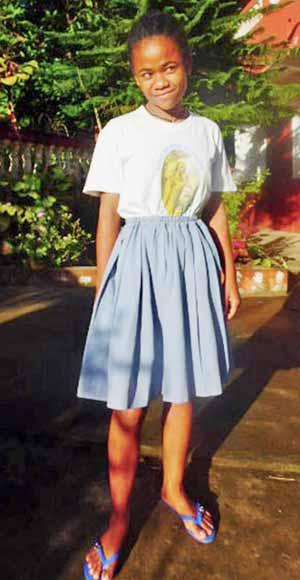 Vanella, orpheline de Madagascar lauréate du BEPC en 2020