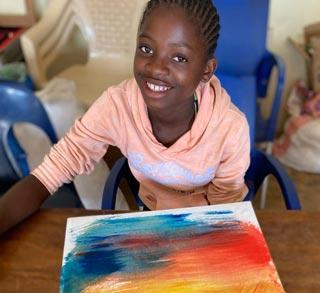 Atelier de peinture organisé à Bumi pendant le couvre-feu en RDC