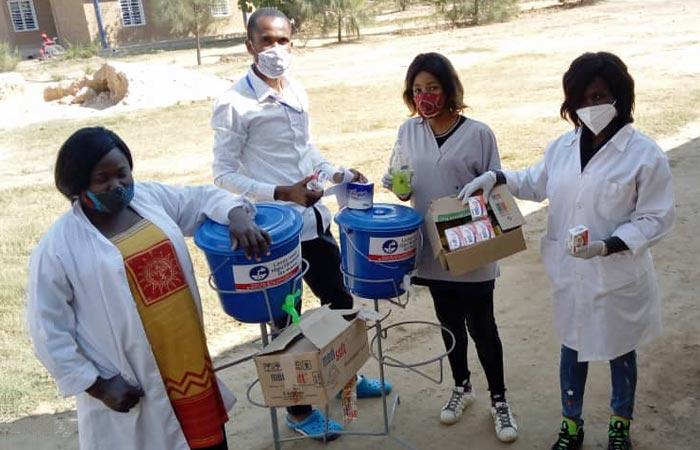 Mesures sanitaires et gestes barrières appliqués co,ntre le covid-19 au Centre Bumi à Lubumbashi en RD Congo