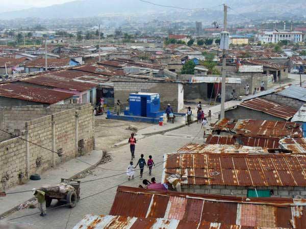 Le bidonville de Cité Soleil en Haïti