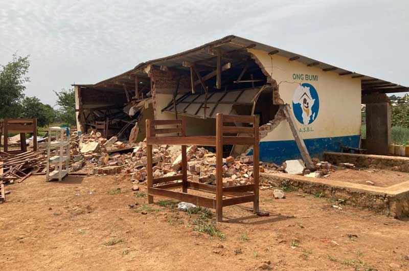 Destruction sauvage de dortoirs du Centre Bumi pour l'accueil d'orphelins et d'enfants vulnérables en RD Congo