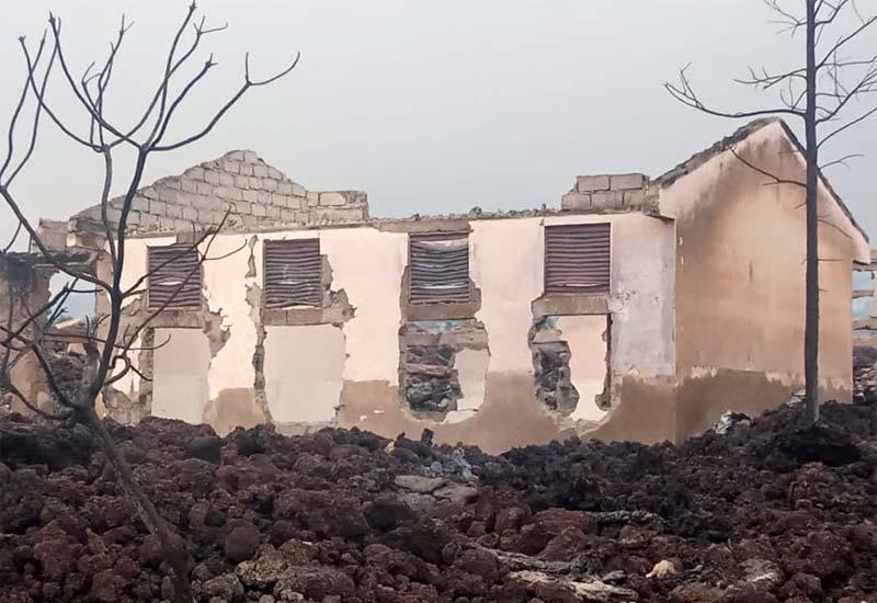 L'école Muja détruite par l'éruption du volcan Nyiragongo à Goma